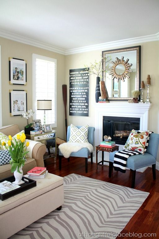 118 Best Images About Living Room Inspiration On Pinterest Fireplaces Ottomans And Trays