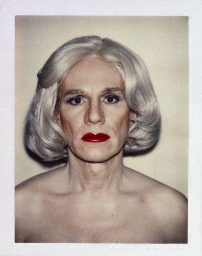 Andy Warhol Polaroid: Drag Self-Portrait