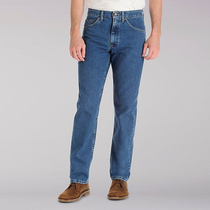 Lee Men's Reg Fit Straight Leg Stretch Big & Tall:Pepperstone:46:30 Jeans