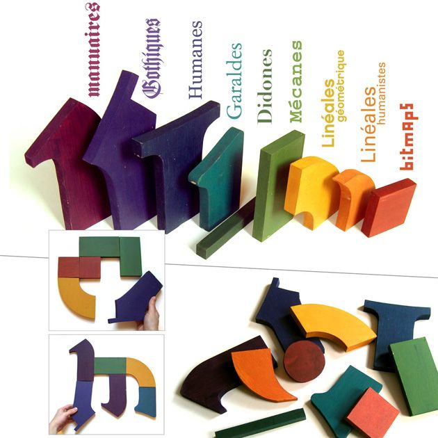 Wood type puzzle by Louis Rigaud