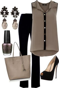 Classy work outfit. Michael Kors Purse. Love it!