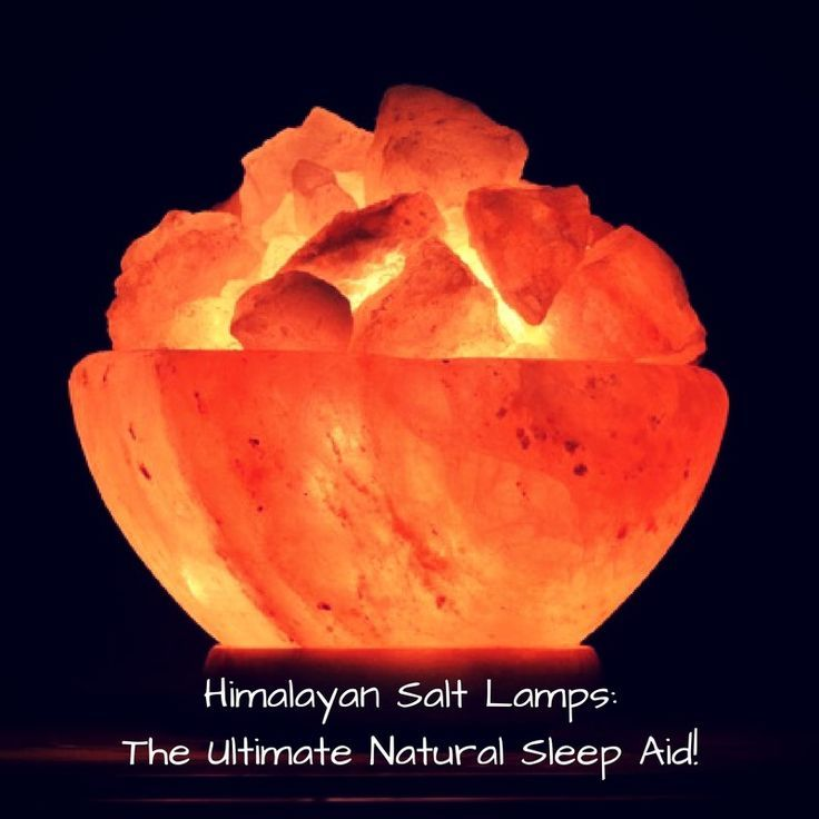 himalayan salt lamp for sleep -  Natural Sleep Remedies - How to fall asleep naturally