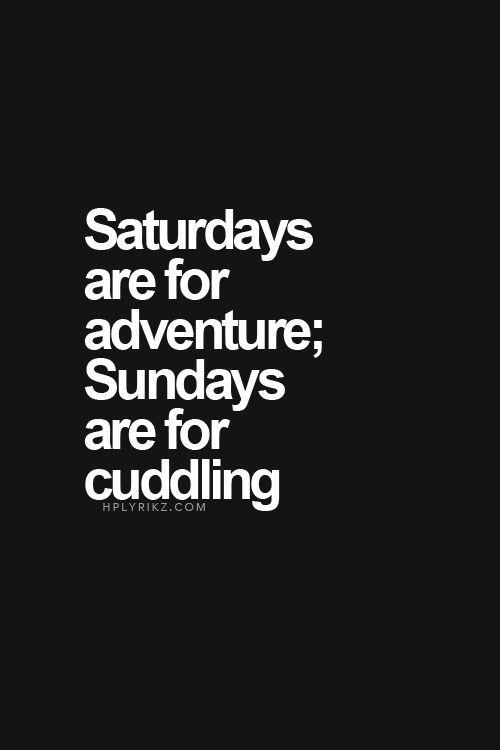 That's why I'm easayyyyyy......easy like Sunday morning...