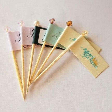 Wedding Cupcake Flags and DIY Project!