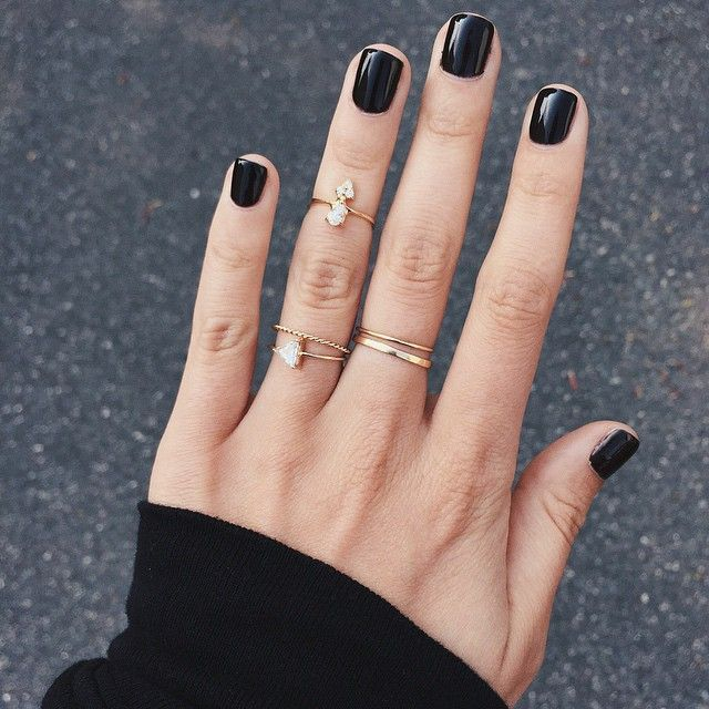 Que Significa Black Nail Polish: 25+ Best Ideas About Black Nails On Pinterest