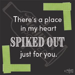 There's a place in my heart spiked out just for you! This sticker is adorable! I love spike tape and theatre! Tech crews and theatre companies know that there is a special place in their heart for this sticker! This is a great good show gift for any improv group, drama club, theatre company or tech crew