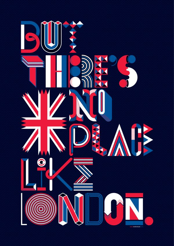 Show Us Your Type - London by Alexander Wright, via Behance