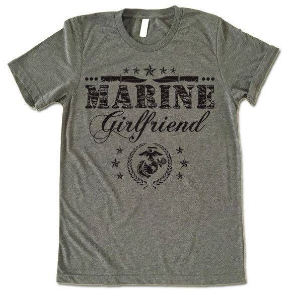 "The listing is for one short-sleeve UNISEX crewneck t-shirt with ""Marine Girlfriend"" design. Please refer to the size chart below (laying flat measurements in inches) if you want to measure it against"