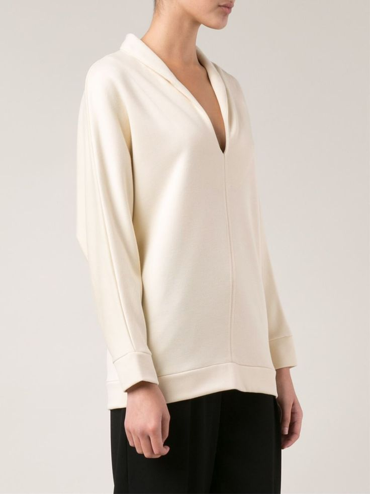 Nude tunic-style sweatshirt from Tomas Maier