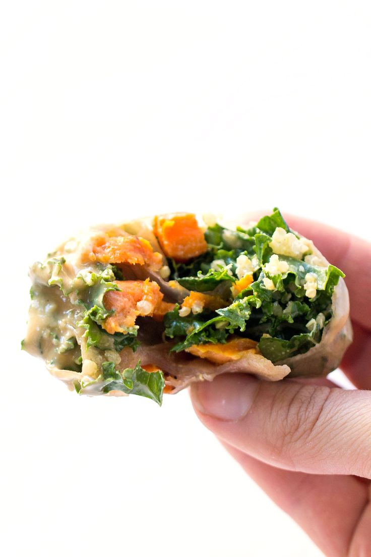 Spring rolls, Roasted sweet potatoes and Kale on Pinterest