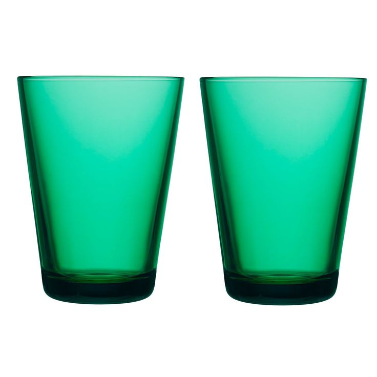 Kartio allglas 2-pack, smaragdgrön – Iittala – Köp online på Rum21.se