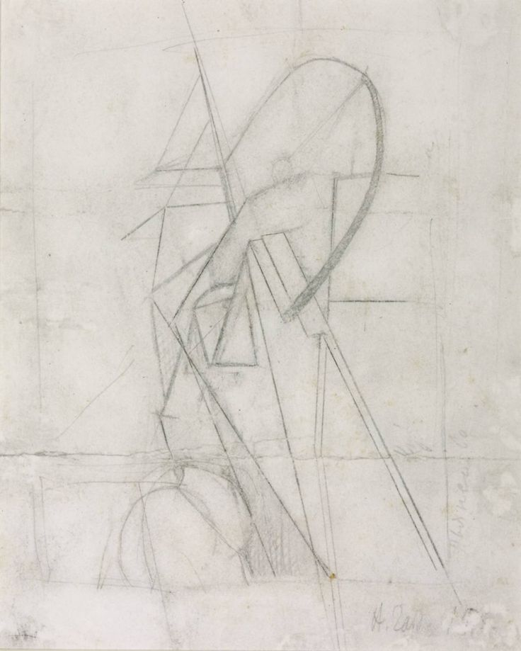 Naum Gabo, 'Design for a Construction in a Niche' 1918