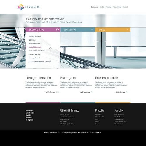 Glassmode #webdesign