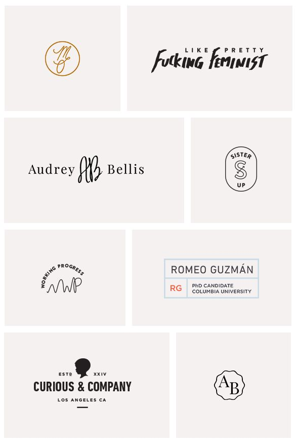 Logos designed by Little Trailer Studio. Click through to see more!