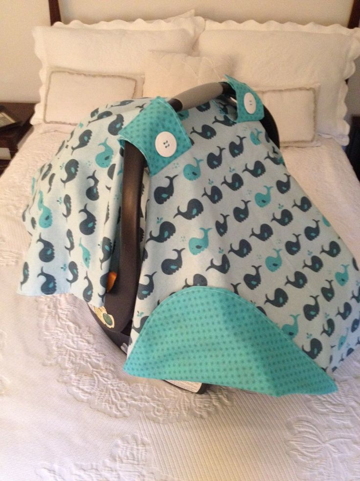 Teal Whale Carseat Canopy by 4mycurlytop on Etsy