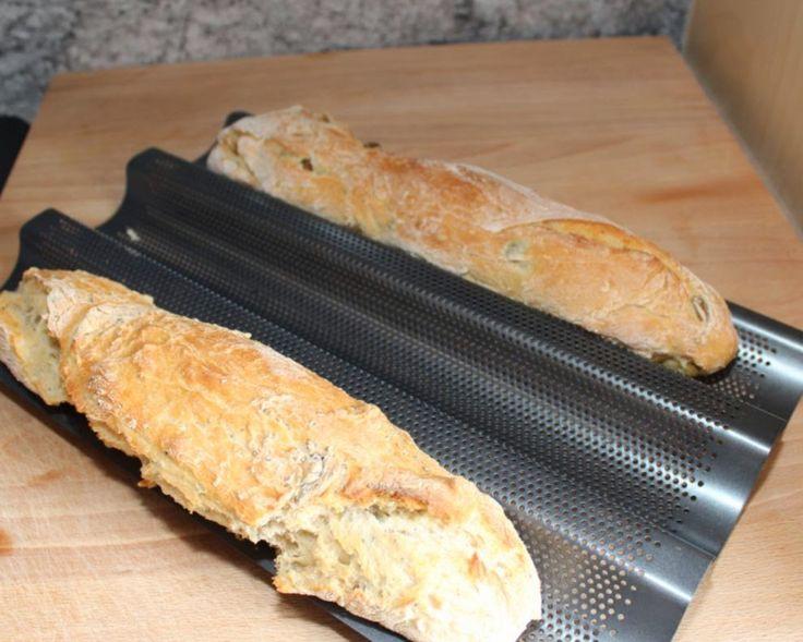 Chia-Samen und Brot, Schnelles Baguette, Thermomix, Rezept