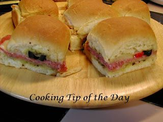 Cooking Tip of the Day: Recipe: Italian Mini Party Sandwiches
