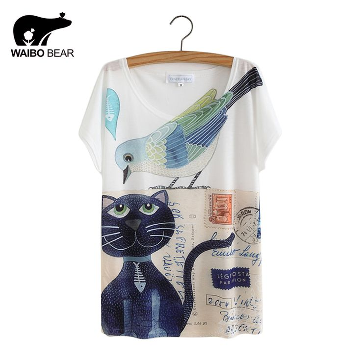 Like and Share if you want this  Cat Animal Printed T Shirt Women Tops 2017     BUY ONE HERE ==> https://giftsegment.com/girlfriend-gift-ideas-cat-animal-printed-t-shirt-women-tops-2017/    #boyfriendgiftideas #friendgiftideas #bestbirthdaygifts
