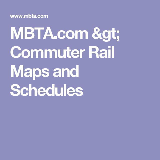 Mbta Com Commuter Rail Maps And Schedules