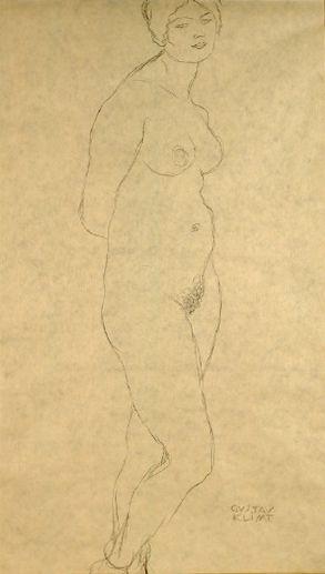 Drawings 2 / Stehender Akt nach rechts (Studie für 'Die Jungfrau') 1912