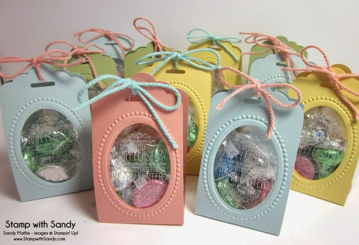 Stamp With Sandy: Easter Treat Holders, made with Stampin' Up Scalloped Tag Topper Punch