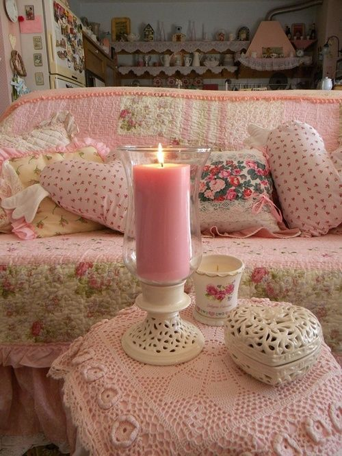 Romance - if I ever want to go this feminine with love seat, but in bedroom