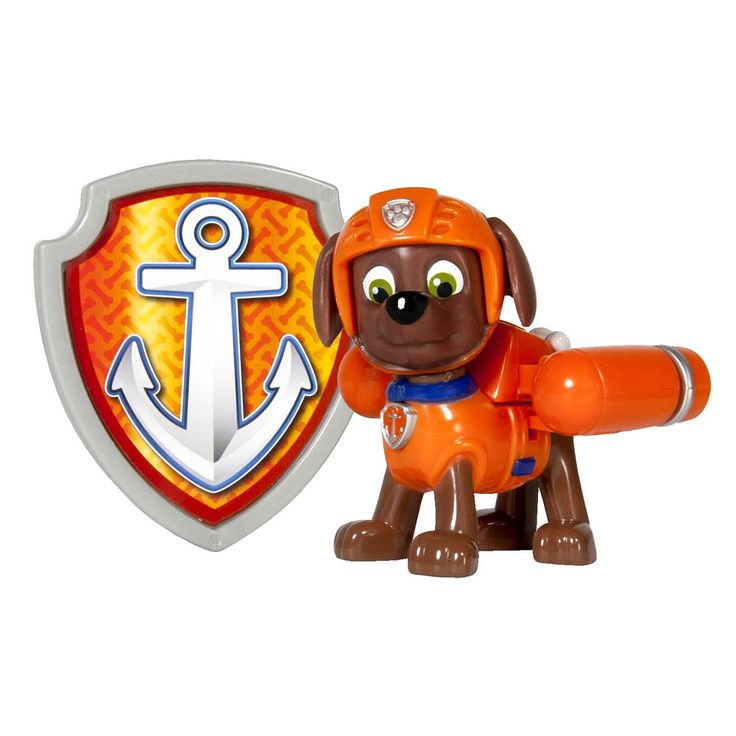 """Paw Patrol Action Pack Pup & Badge - Zuma - Toys""""R""""Us"""