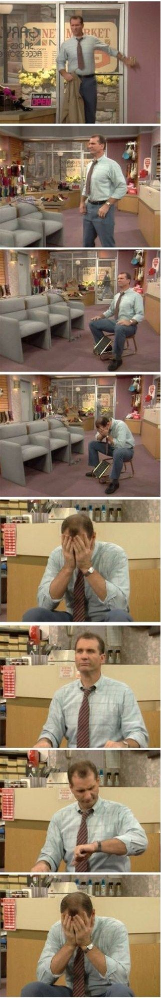 Al Bundy - Typical Day At Work - MEME, LOL and Funny Pictures. Get the BEST and Funniest MEME, Funny Pictures and LOL from the Funny Pictures Blog.
