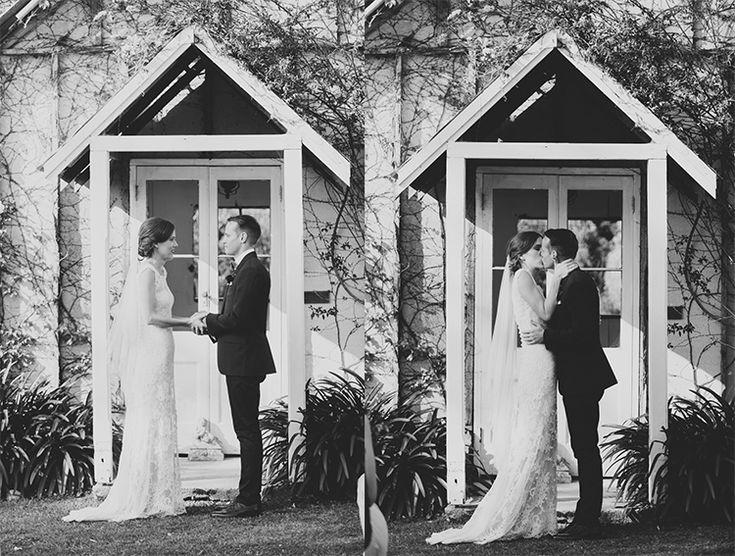The Kiss!! Tweed Hinterland Wedding - Velleron House - Nat McComas. Tweed Wedding Celebrant. Byron Bay Wedding Celebrant