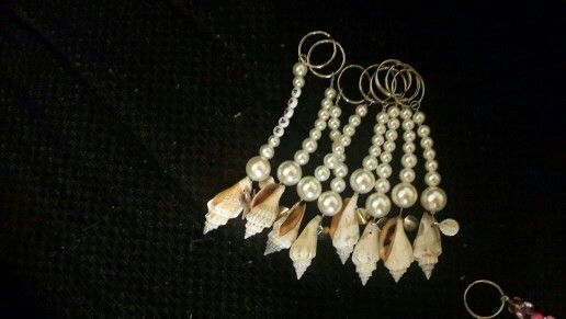 SHELL KEYRINGS CAN B PERSONALIZED