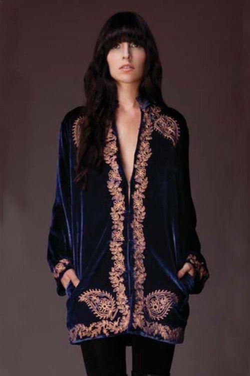 Velvet Embroidered Beauty