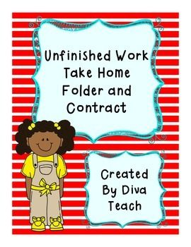 Unfinished Work Folder and Contract
