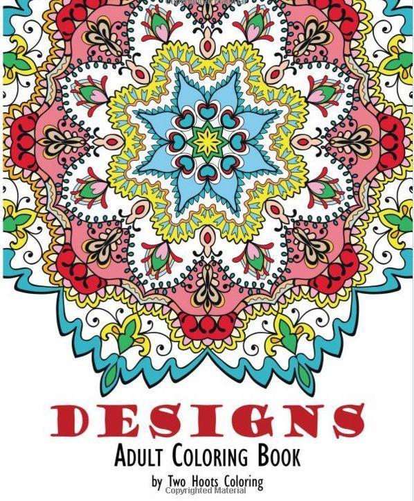 Adult Coloring Book 48 Pages Mandala Unique Design Geometric Picture Paper Sheet
