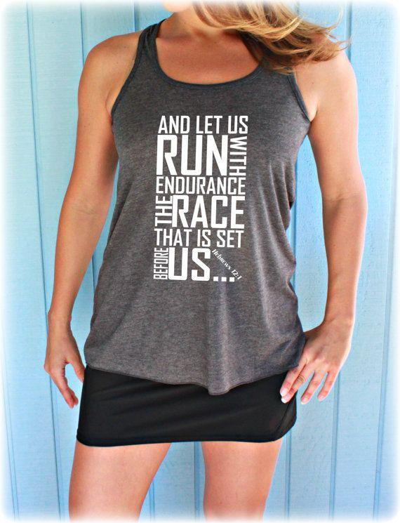 Womens Flowy Workout Tank Top. Keep Running the by BraveAngelShop