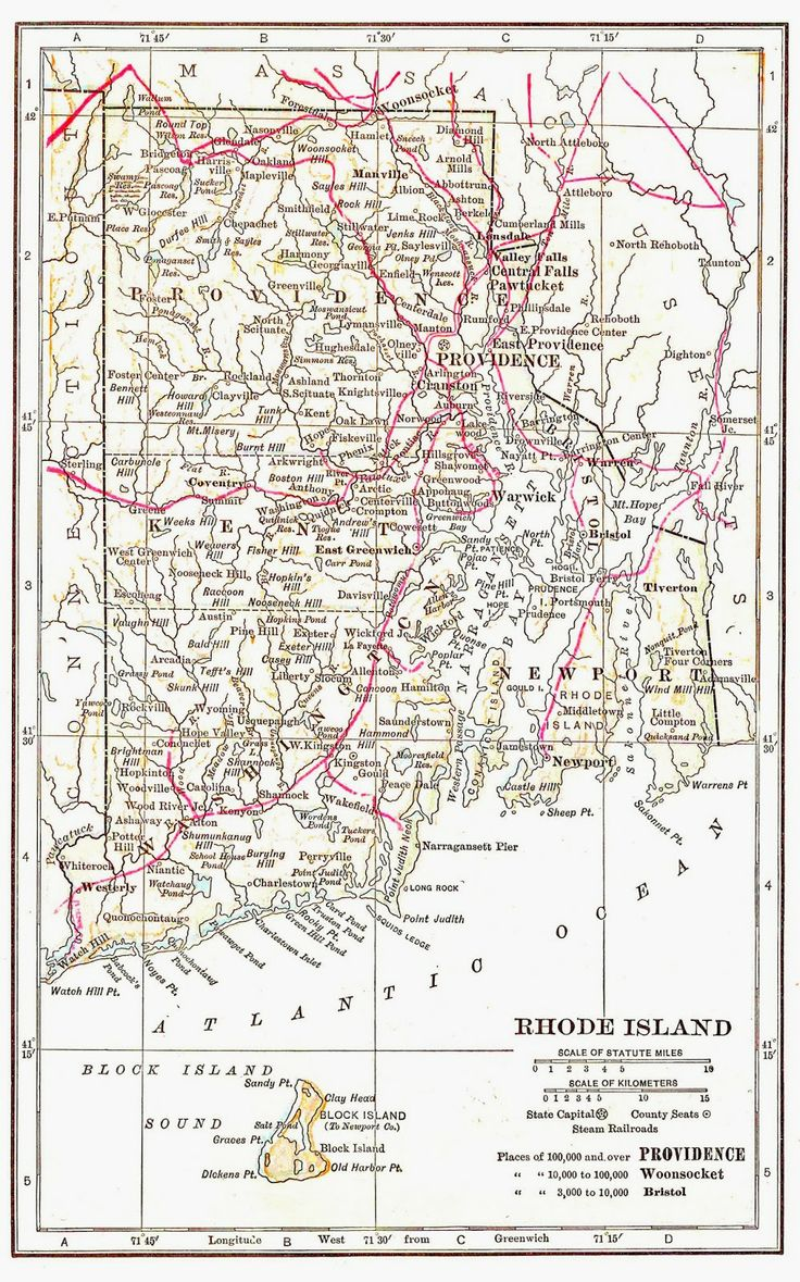 Best Images About ROAD MAPS OF THE UNITED STATES On Pinterest - Rhode island in usa map