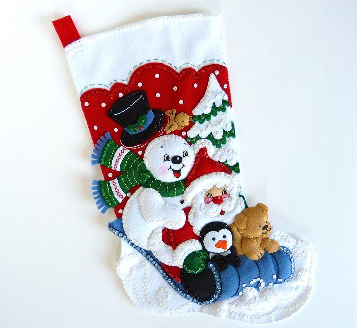 Media de la Navidad Bucilla terminado Bucilla siembra siembra