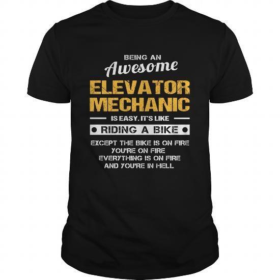 ELEVATOR-MECHANIC #teeshirt #clothing. GET YOURS  => https://www.sunfrog.com/LifeStyle/ELEVATOR-MECHANIC-139685582-Black-Guys.html?60505