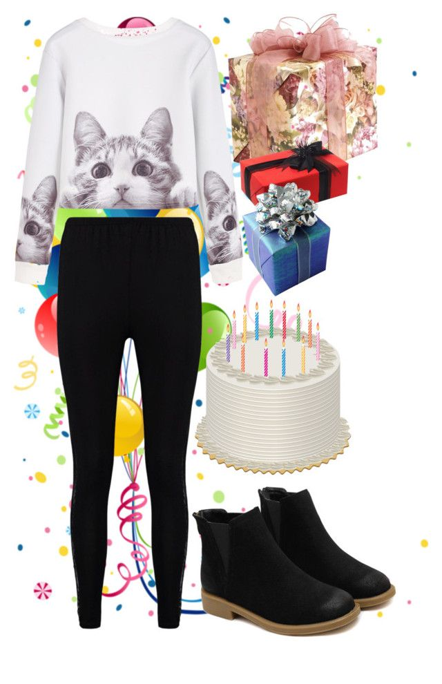 birthday party by slytheriner on Polyvore featuring Boohoo