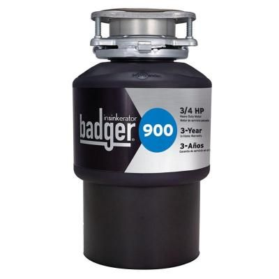 InSinkErator 3/4 HP Continuous Feed Garbage Disposal-Badger 900 - The Home Depot