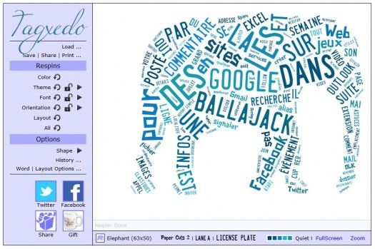 Création de nuages de mots, Tagxedo http://www.ballajack.com/creation-nuage-mot-tagxedo