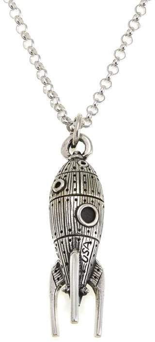 "King Baby Jewelry King Baby Sterling Silver Rocket Pendant with 24"" Chain"