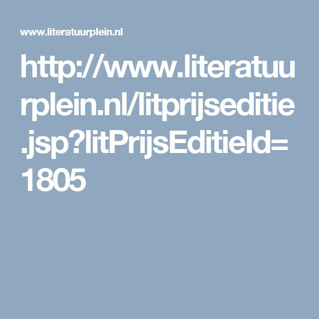 De Boekhandelprijs is toegekend aan Lize Spit met haar boek Het smelt. De winnaar wordt gekozen door medewerkers van 220 boekhandels in Nederland. Er zal een speciale editie van haar boek uitkomen die te koop zal zijn in de desbetreffende boekhandels.
