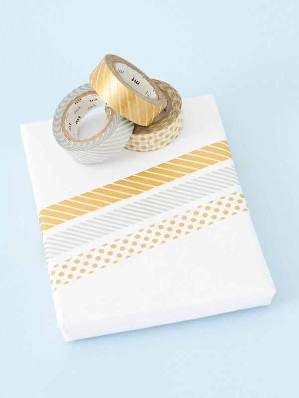 Metallic gold and silver washi tapes. Sold separately