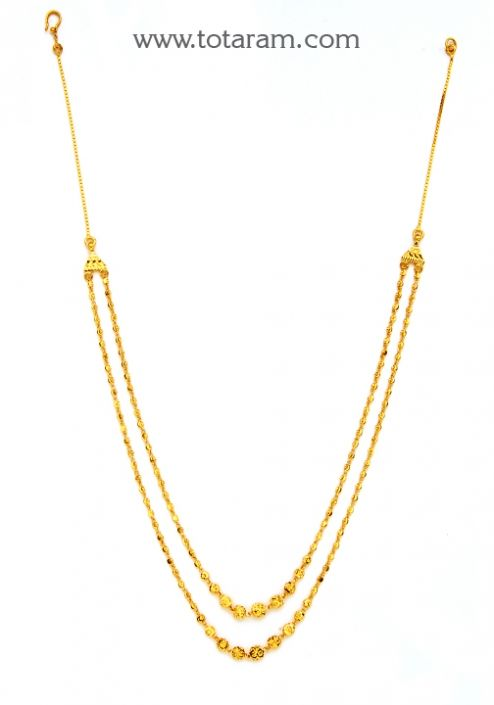 22K Gold Necklace: Totaram Jewelers: Buy Indian Gold jewelry & 18K Diamond jewelry