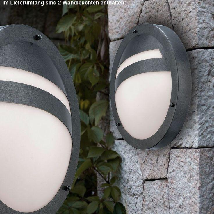 Fresh  x LED Wand Lampe Eingang Haus T r Beleuchtung Stahl Hof Leuchte Balkon Lampe