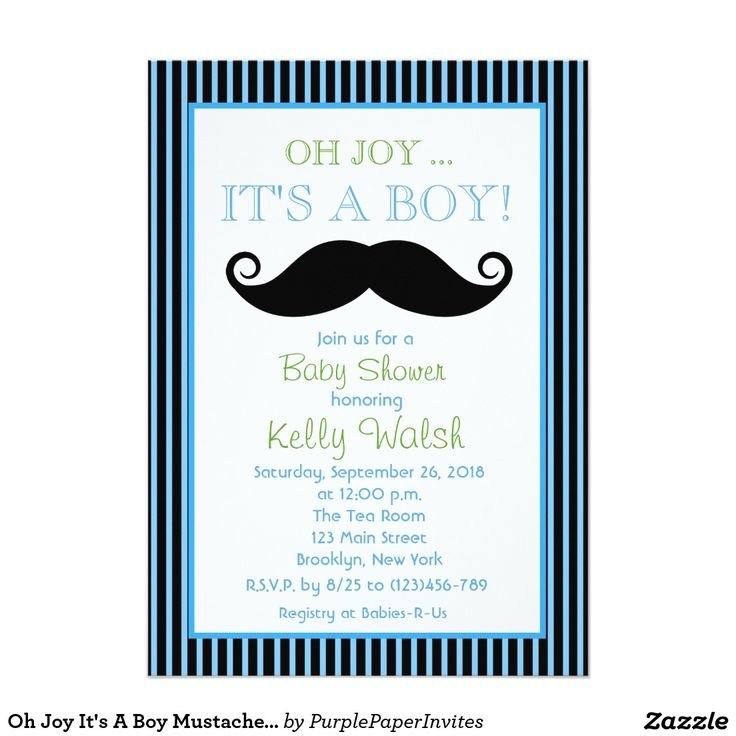 234 best baby shower invitations images on pinterest baby shower oh joy its a boy mustache baby shower invitation stopboris Image collections