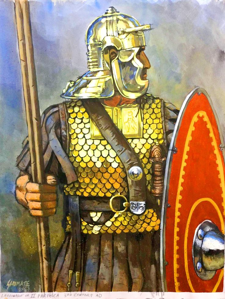 Legionary of II.PARTHICA,3rd century by Johnny Shumate