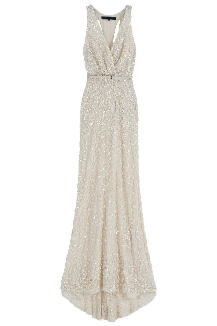Cutout Back Sequin Gown