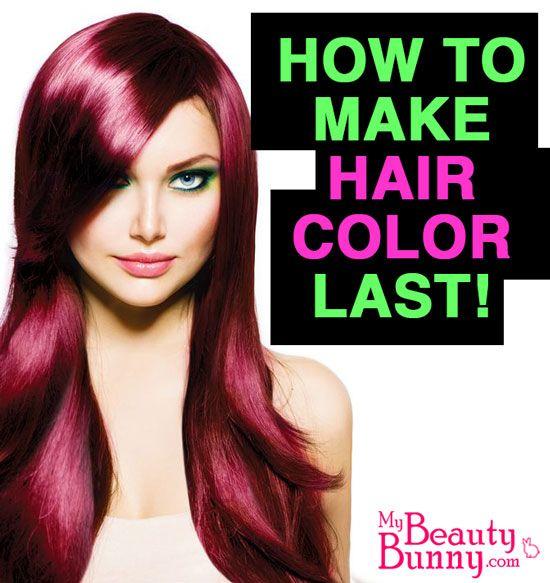 How to Make Hair Color Last by @MyBeautyBunny Jen via @Phyrra