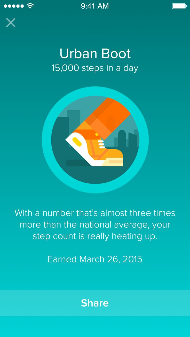 View and share your badges right through the Fitbit app!
